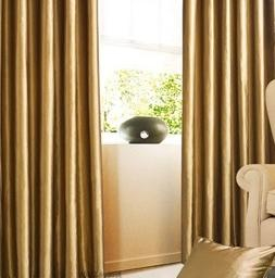 Gold Faux Silk Waterfall Valance Drapes and Curtains (FZ-03