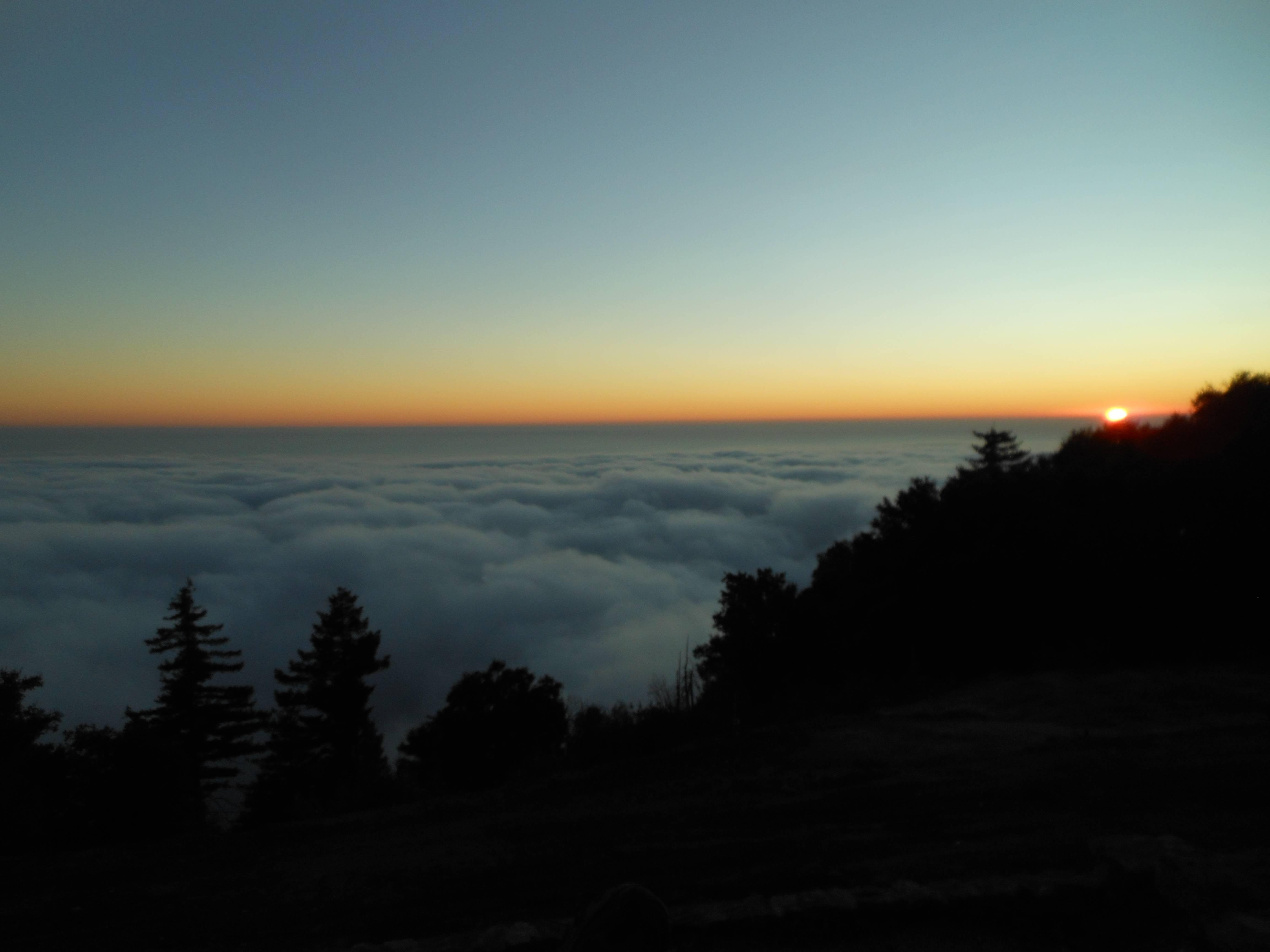 Sunset from atop Palomar mountain