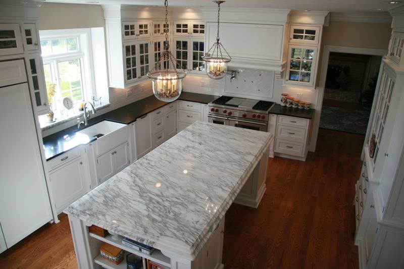 Beaded inset maple cabinets