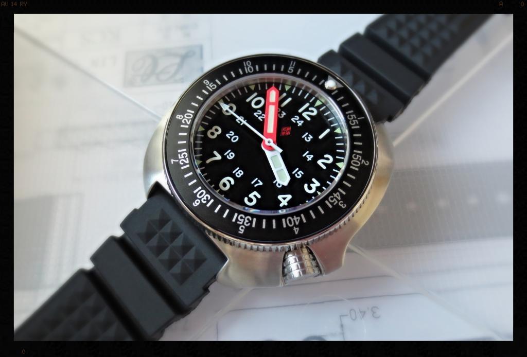 MILITARY T-2 TYPHOON w/ COUNTDOWN-GMT INSERT