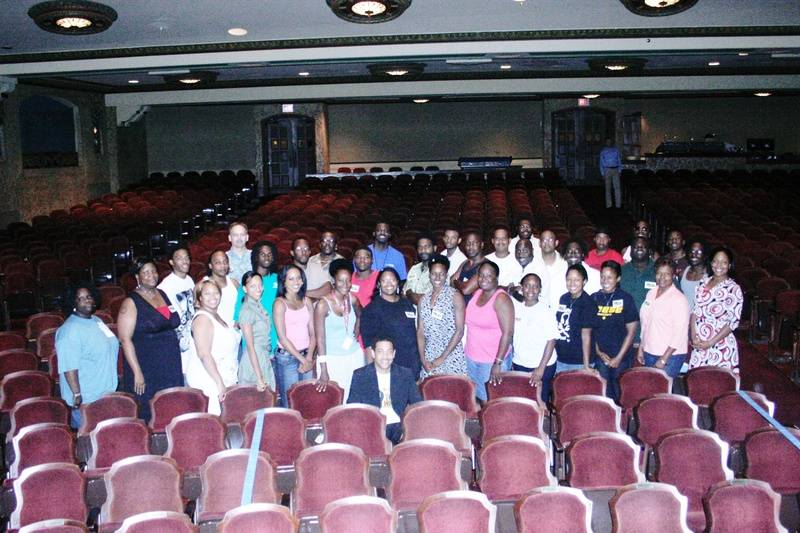 The cast of FRAT HOUSE at the Florida Theatre.