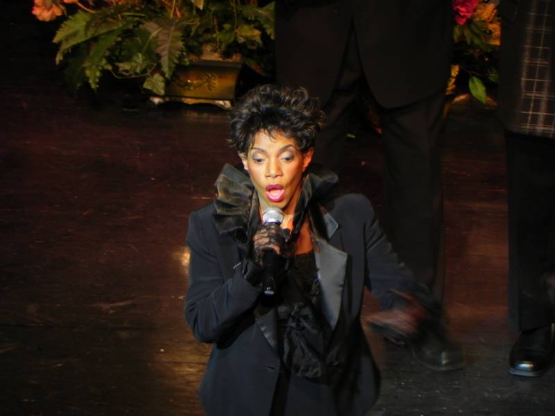 Melba brings down the house at the Funeral.