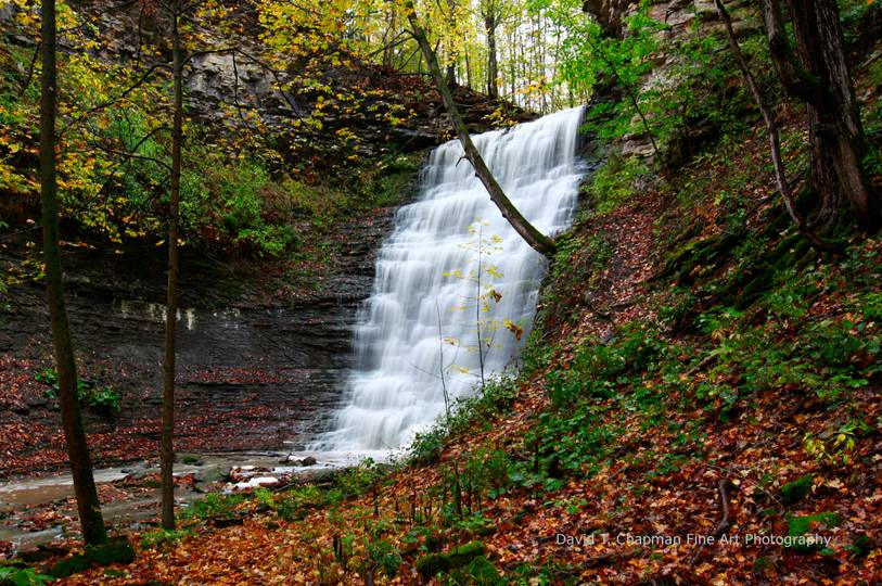 Swayze Falls in Early Autumn