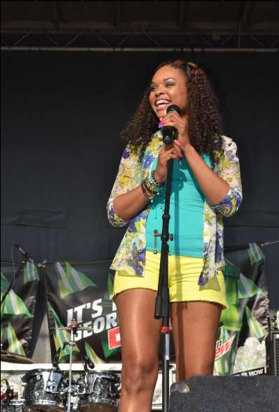 Demetria McKinney At The 'Sweet Auburn Festival'. May 19, 2012
