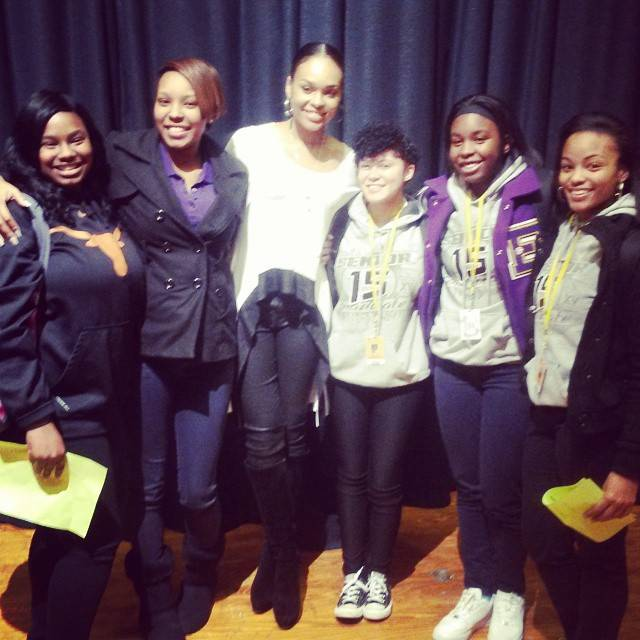 Donicea Allen and Demetria McKinney at Everman High School