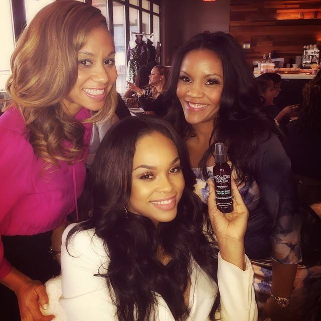 Demetria McKinney, Cristi and Ellen Rucker Carter attend CIAA Women Empowerment Brunch