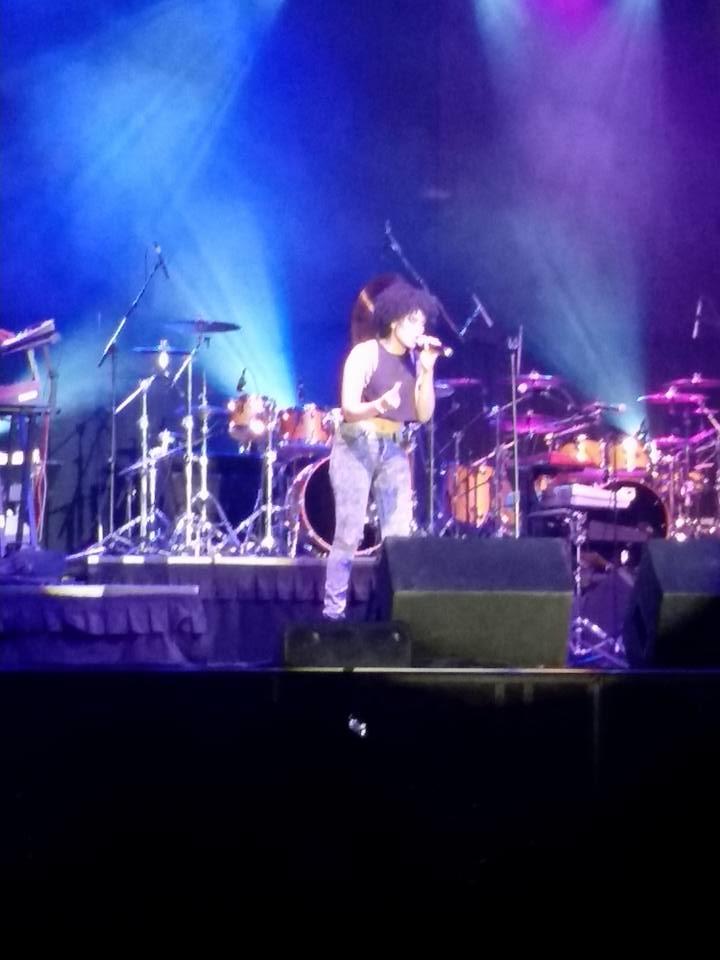 Demetria McKinney performs at the Jackson Rhythm & Blues Festival - Jackson Convention Complex