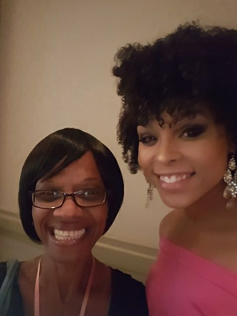 "Joyce White and Demetria McKinney attend the 4th Annual ""50 Shades of Pink"" Charity Fashion Show"
