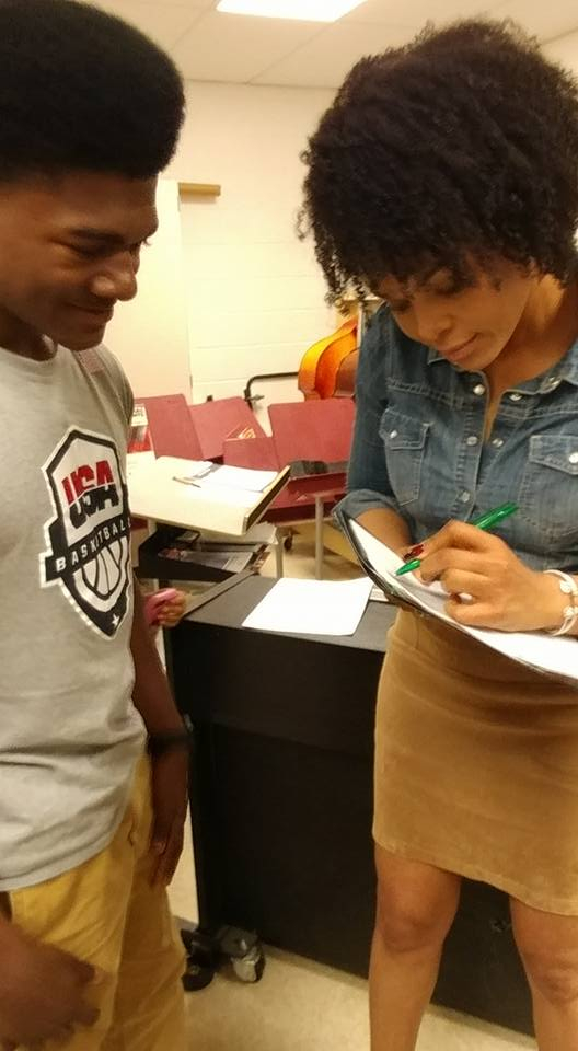 Demetria McKinney attend Social Media Responsibility Conference - Hickory Ridge Middle School