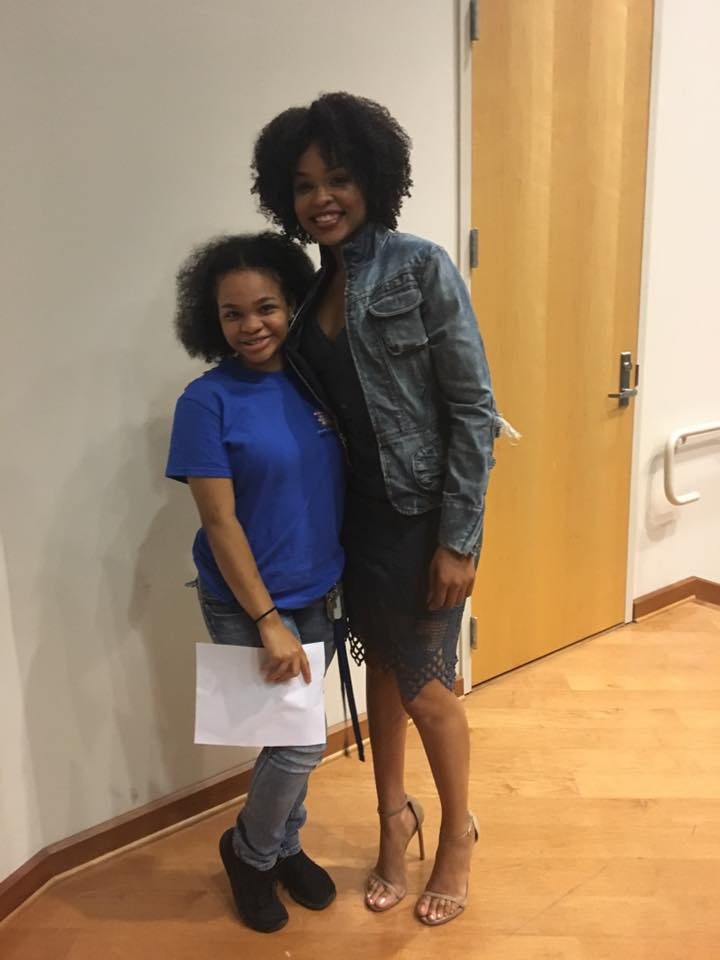 Deja Holland and Demetria McKinney attend National Black College Alumni Hall of Fame Foundation, Inc. Legacy Lecture Series - Dillard University