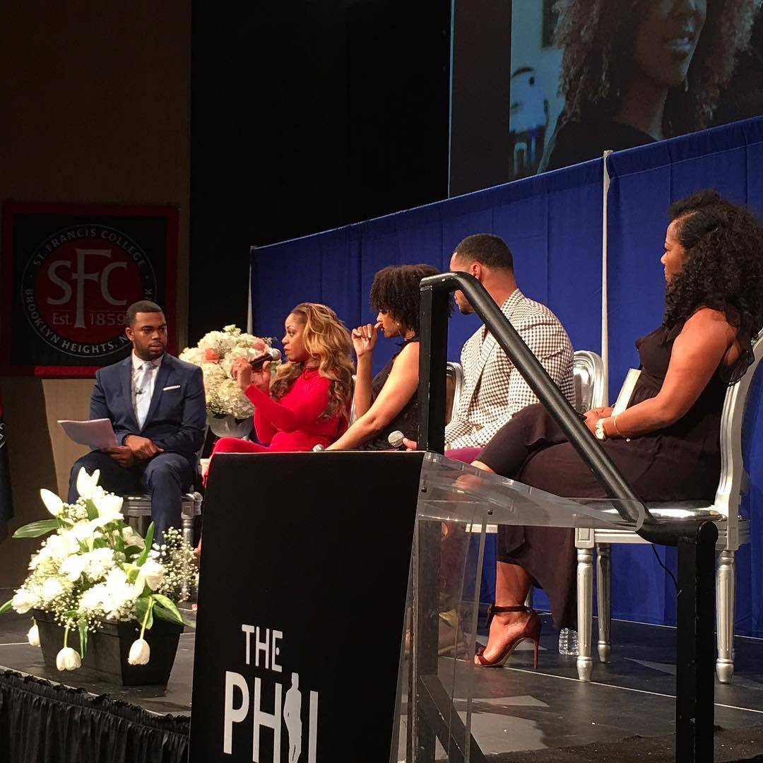 Demetria McKinney, Latavia Roberson, Johnathan Casillas and Miko Branch attend The Phill Taitt Show - Dream Reach Inspire