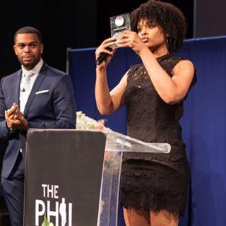 Phill Taitt and Demetria McKinney attend The Phill Taitt Show - Dream Reach Inspire