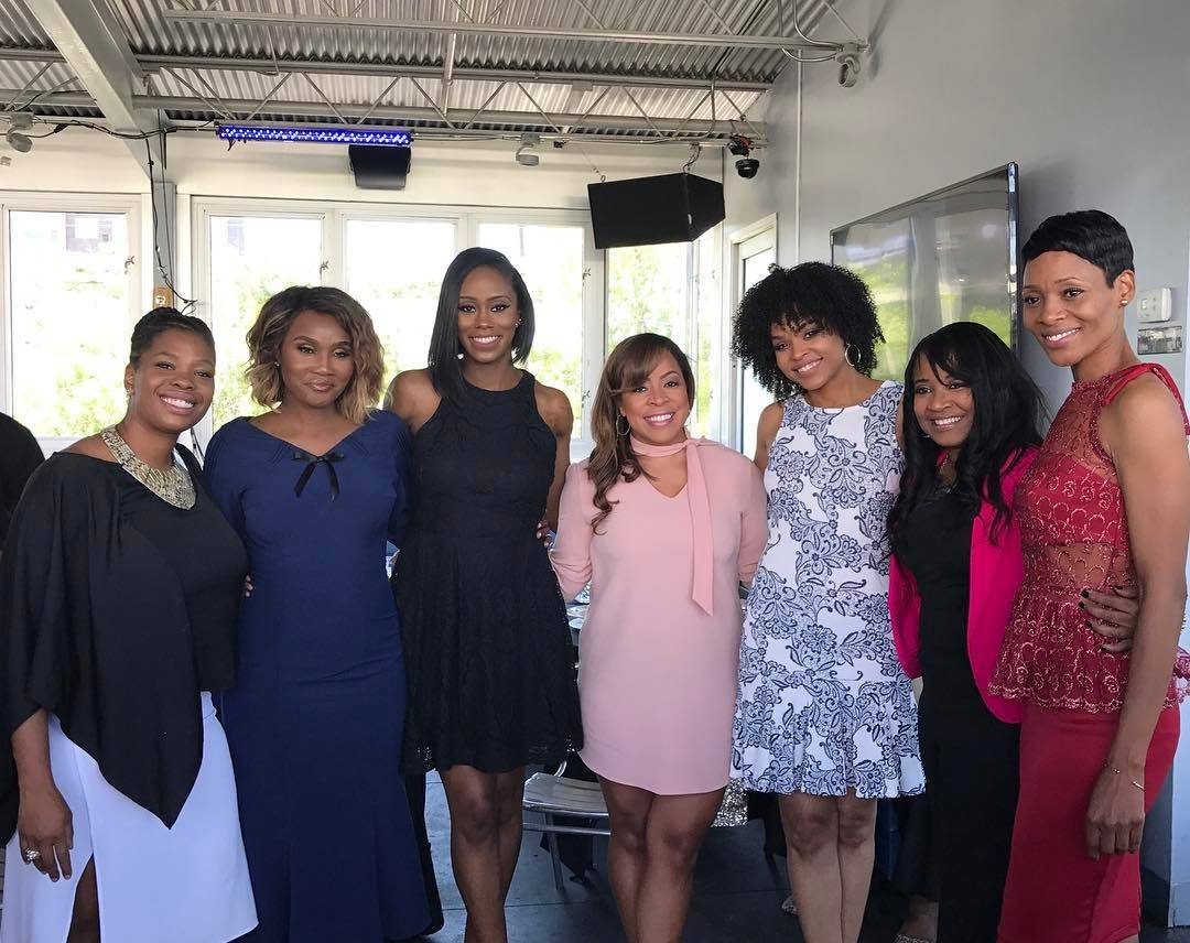 """Carla Stephens, Reece Odum, Monica Elam and Dedra Allen attend Demetria McKinney's 2nd Annual """"Because Of You"""" Pre-Mothers Day Brunch"""