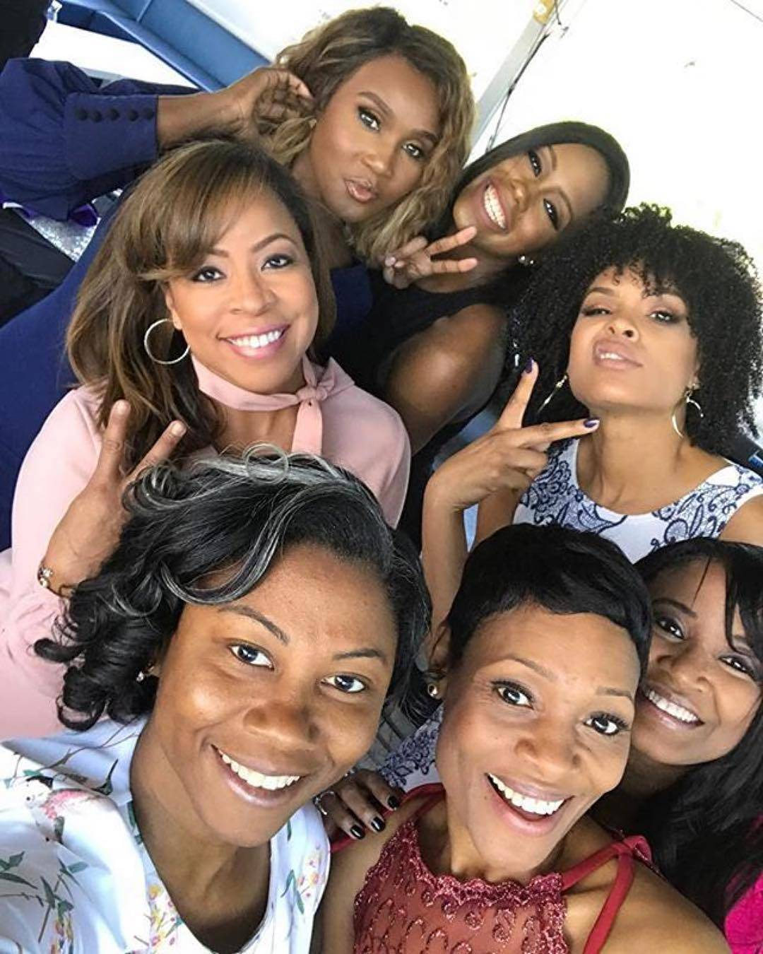 "Carla Stephens, Reece Odum, Xaviera, Dedra Allen and Monica Elam attend Demetria McKinney's 2nd Annual ""Because Of You"" Pre-Mothers Day Brunch"