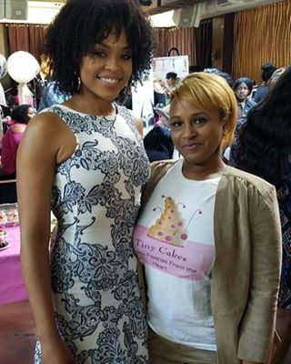 "Saudamani Gray attend Demetria McKinney's 2nd Annual ""Because Of You"" Pre-Mothers Day Brunch"