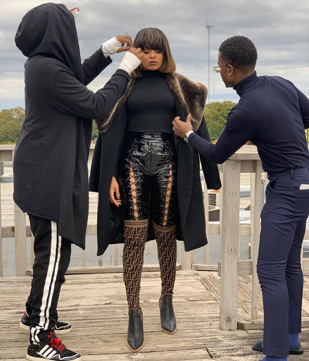 Terrence Davidson, Demetria McKinney and Dallas behind the scenes with Will Sterling Photography - November 4, 2018
