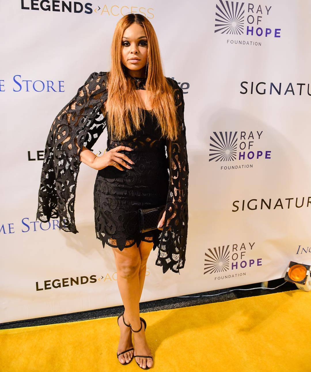 Demetria McKinney attend Ray Lewis' Ray Of Hope Event