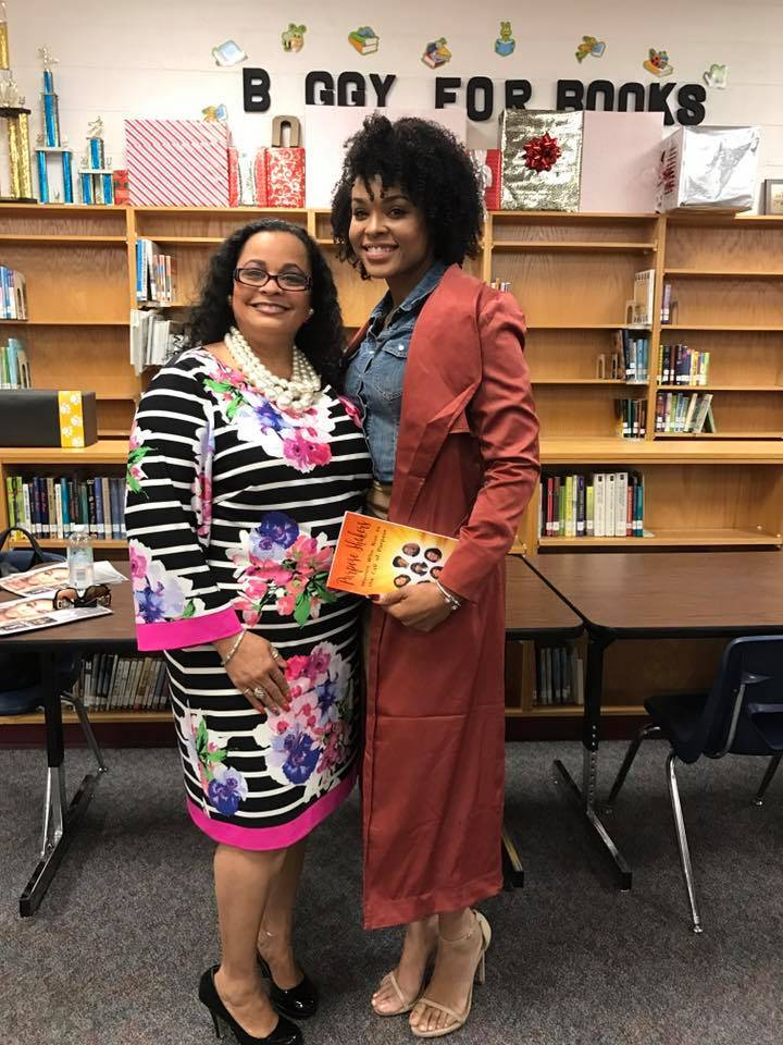Eugenia Venturanza and Demetria McKinney attend Social Media Responsibility Conference - Hickory Ridge Middle School