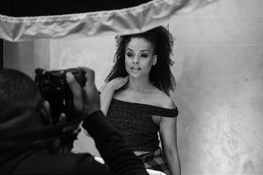 Demetria McKinney behind the scenes Hair Photo Shoot - Nathan Pearcy Photography