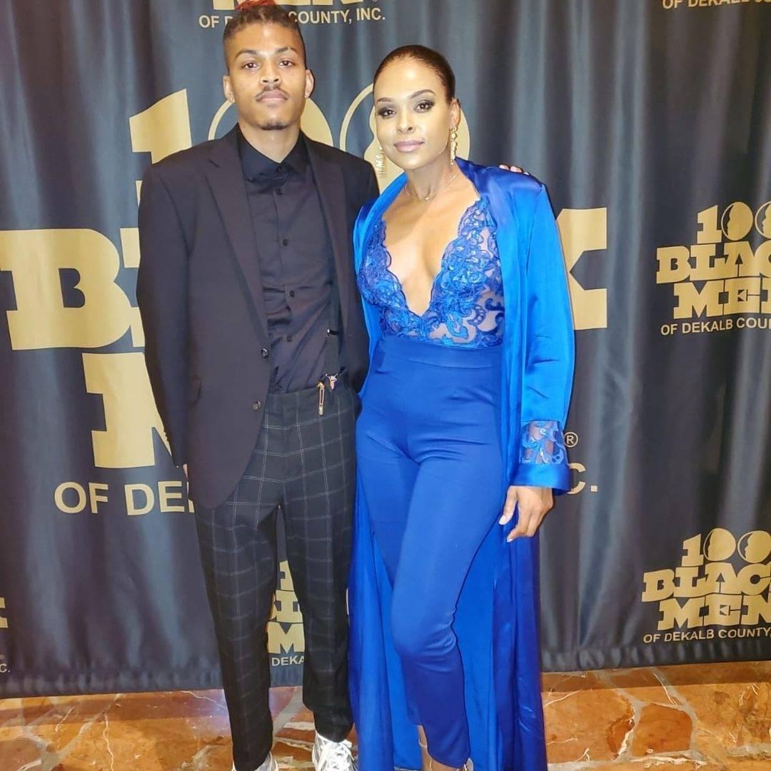 Demetria McKinney and DaeKwon attend the 100 Black Men Gala