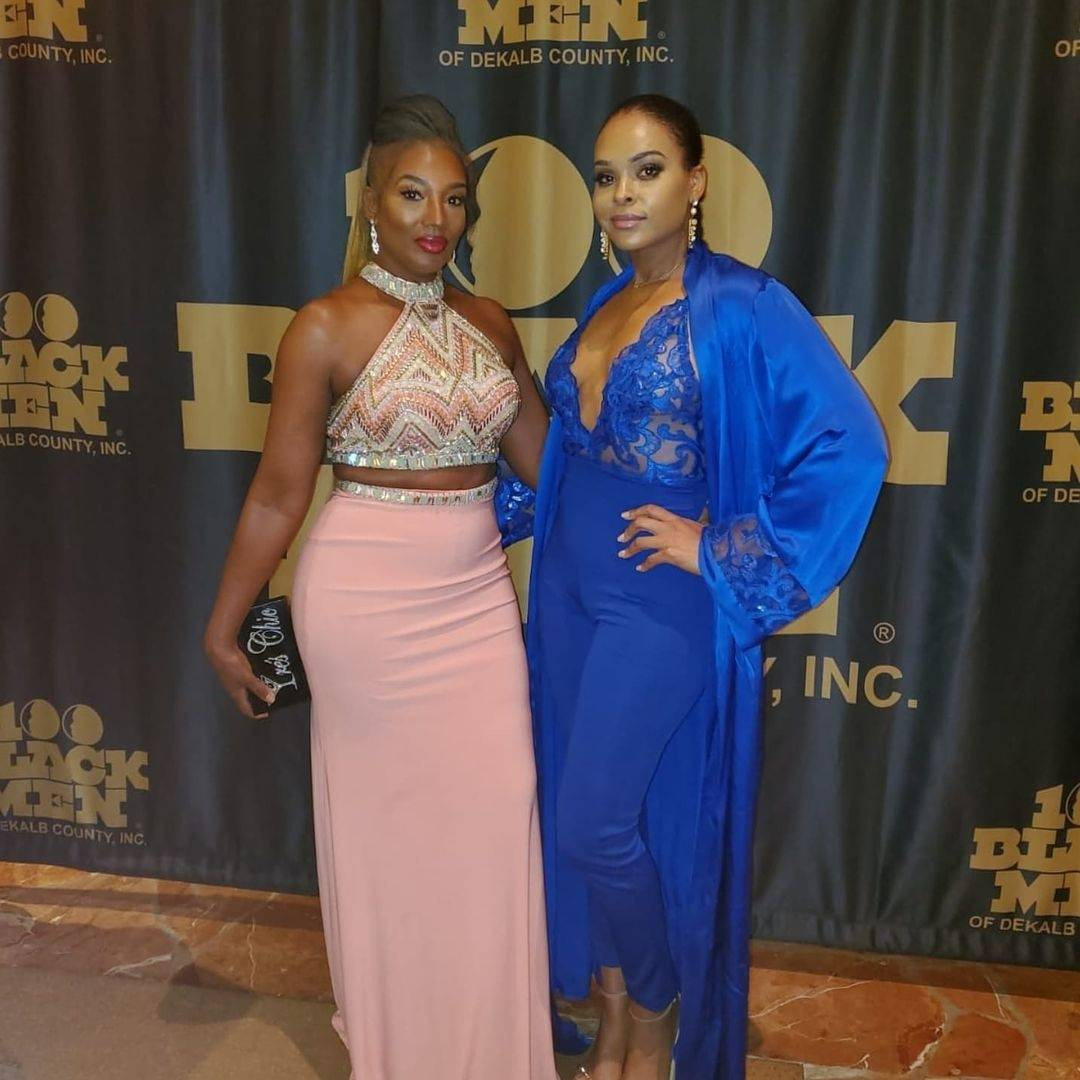 Auta and Demetria McKinney attend the 100 Black Men Gala