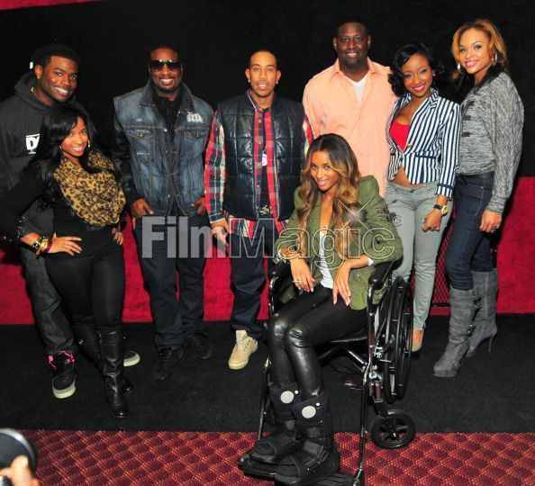 Memphis, Toya, Devyne Stephens, Ludacris, Ciara, Guest, Diamond and Demetria McKinney attend the 2011 Roll Over Hunger Charity and Skate Jam at the Cascade Family Skating Rink