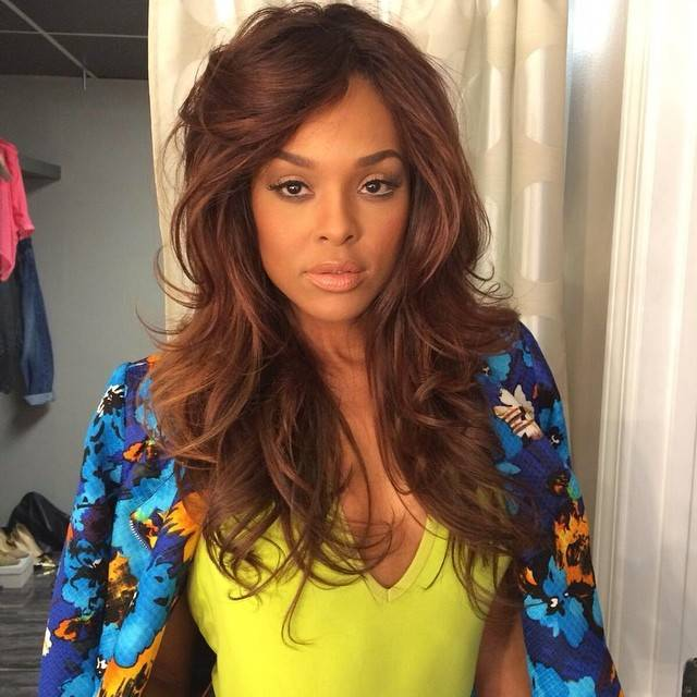 Demetria McKinney behind the scenes photo shoot with 'Rolling Out' - July 30, 2014