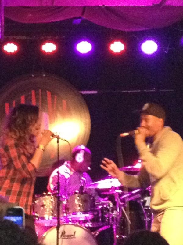 "Demetria McKinney & Anthony David Performing 'Livin' It Up' At ""Anthony David & Friends Soul Session"" At Vinyl"
