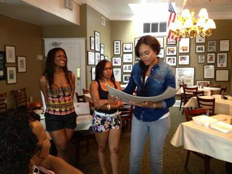 """Chelby And Iesha Marie's """"Unforgettable Moment' with Demetria McKinney At """"Mary Mac's Tea Room"""" on August 5, 2013"""