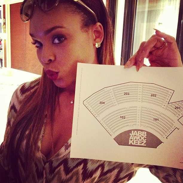"Demetria McKinney Attends The ""JabbaWockeez"" Show on June 22, 2013"