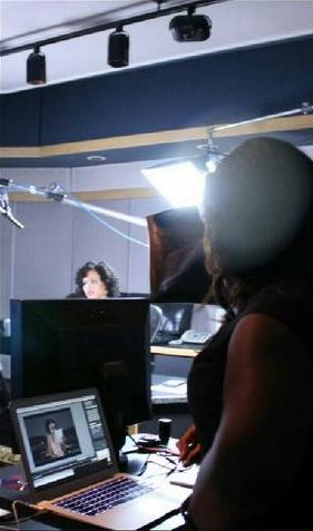 Demetria McKinney filmed a PSA as an Ambassador for Hosea Feed The Hungry Campaign - September 22, 2014