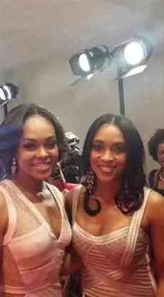 Demetria McKinney and DiDi Skky attends UNCF's 35th annual An Evening With The Stars at Boisfeuillet Jones Atlanta Civic Center