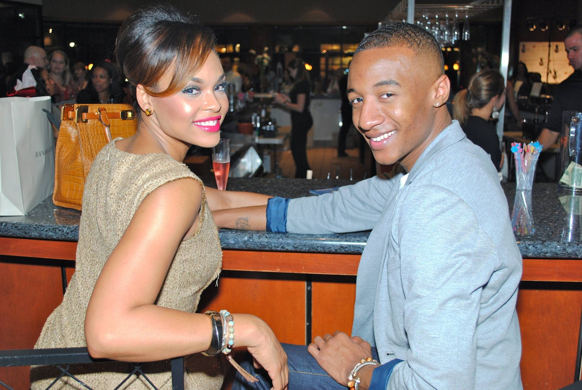 Demetria McKinney & Victor At The 'Dress For Success' Charity Event