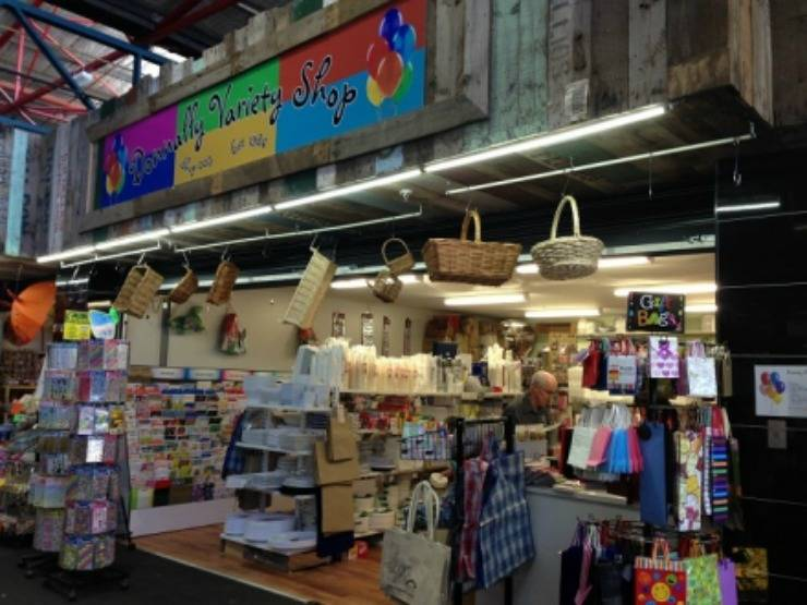 Prahran Market....Note, Bin Boards used as shop display