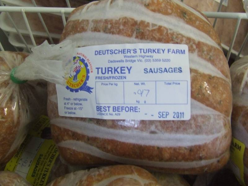 Turkey Sausages