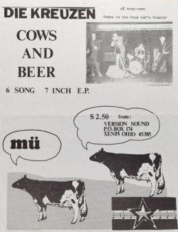 Cows and Beer print ad from 1982