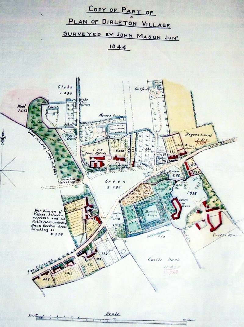 Plan of Dirleton Village, 1844.