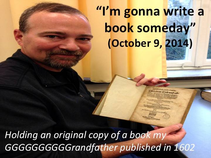 """""""I'm gonna write a book someday"""" (October 9, 2014)"""