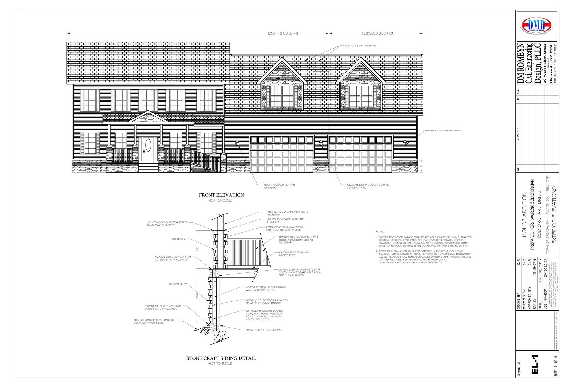 Exterior Elevations & Section