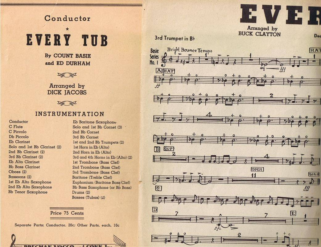 EVERY TUB composed by Eddie Durham and Count Basie