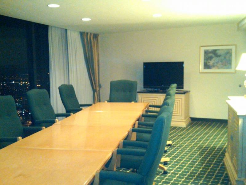 Boardroom with different lighting