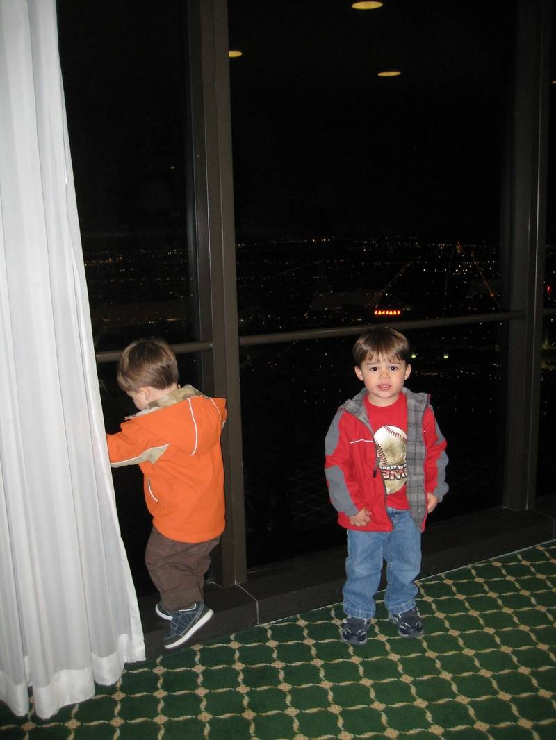Jack and Christian checking out the room