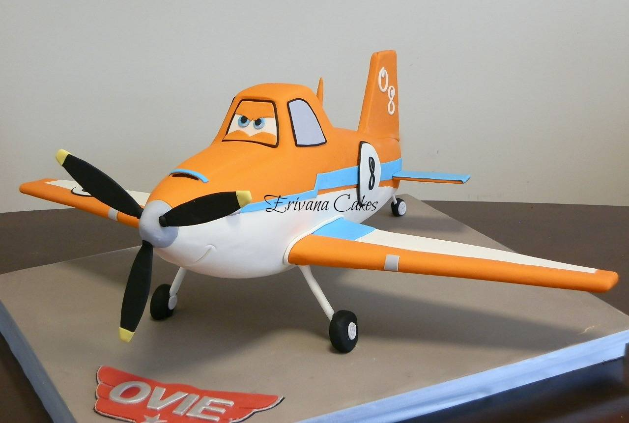 Gravity defying - 3d Dusty Plane Cake