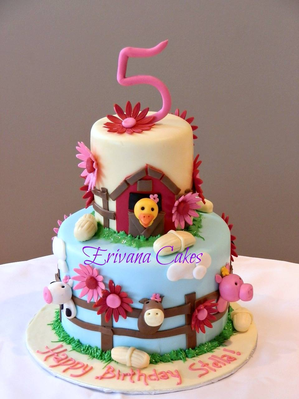 Farm animals cake 4