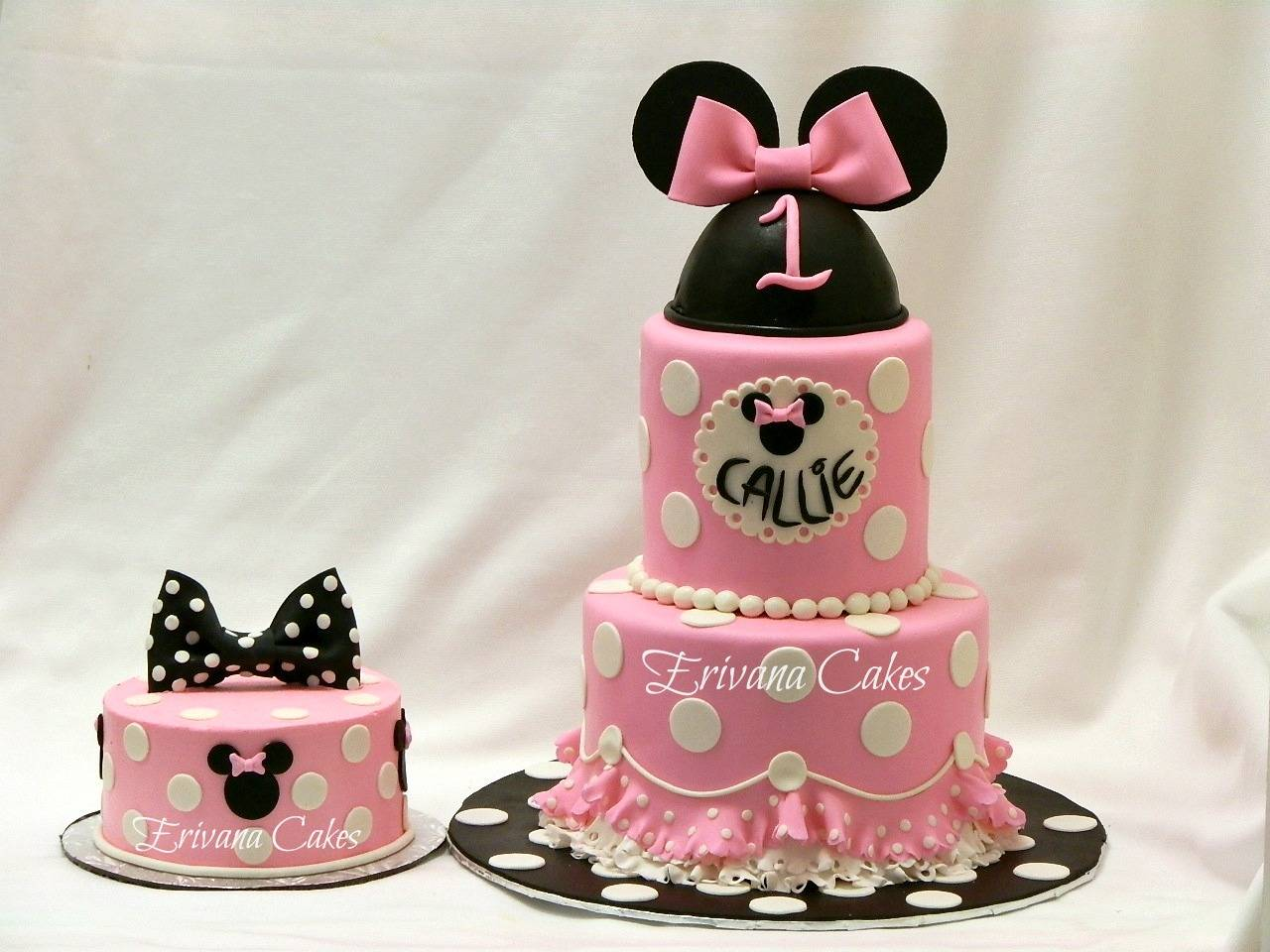 Minnie mouse cake and smash cake 2 (Inspired By La Dolce Dough)