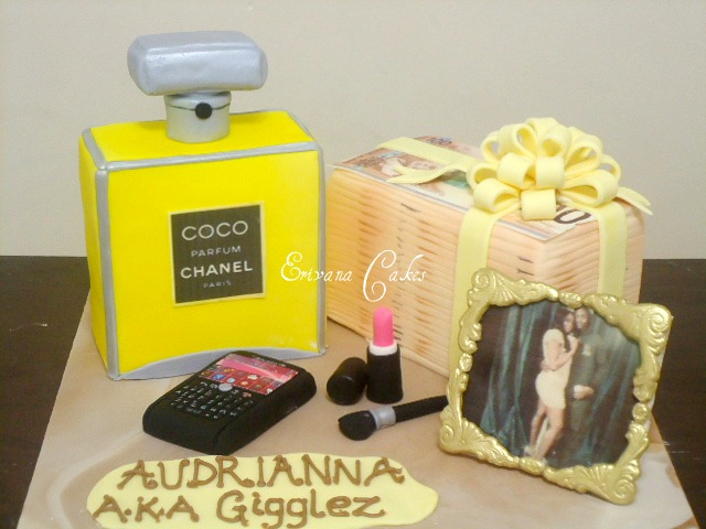 Chanel perfume, Stack of money Cake(SP140)