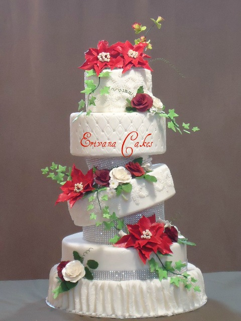 Christmas Winter Wedding Cake