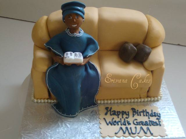 Mum /woman on a Couch Cake(SP023)