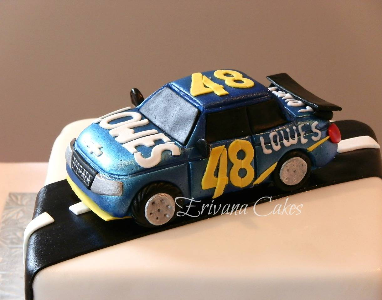 Jimmy Johnson Racecar cake
