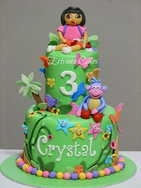 Dora the explorer and boots cake 6